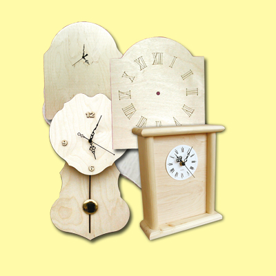orologi decoupage legno